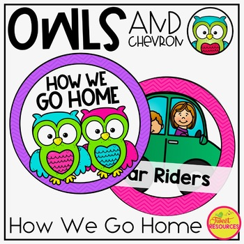 How We Go Home Clip Chart in an Owls and Chevron Decor Theme