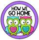 How We Go Home Clip Chart {Owls and Chevron Decor Theme}