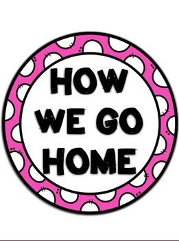 How We Go Home Clip Chart {Zebra and Pink}