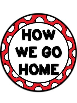 How We Go Home Clip Chart {Zebra and Red}