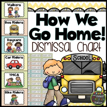 How We Go Home! Dismissal Chart {Chevron Classroom Set}