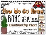 How We Go Home | Dismissal Clip Chart | BOHO Bliss