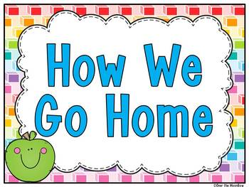 How We Go Home | Dismissal Clip Chart | Bright Geometric Cubes