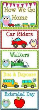 How We Go Home Dismissal Clip Chart – Cutie Owls & Polka Dots