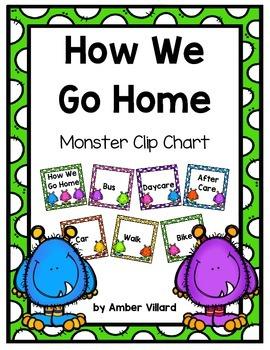 How We Go Home: Dismissal Clip Chart {Monster}