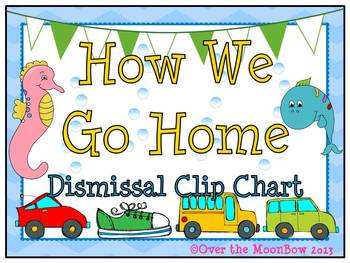 How We Go Home Dismissal Clip Chart – Ocean Themed