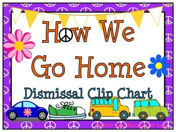 How We Go Home Dismissal Clip Chart –Peace Buggy