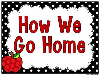 How We Go Home | Dismissal Clip Chart | Perfectly Polka Dot Black