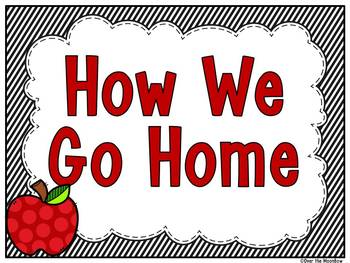 How We Go Home | Dismissal Clip Chart | Simply Stripes Black