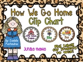 How We Go Home Dismissal Clip Chart & Student Labels {Jungle Theme}