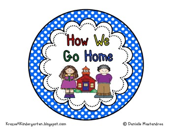 How We Go Home Dismissal Clip Chart & Student Labels {Primary Polka Dots}