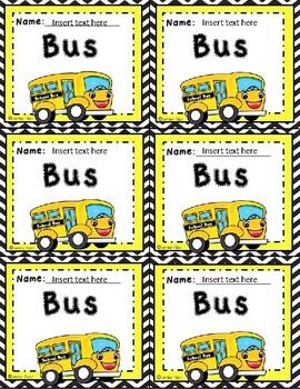 How We Go Home? Dismissal Labels- Transportation Chart