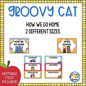 How We Go Home Display  - Editable {Groovy Cat}
