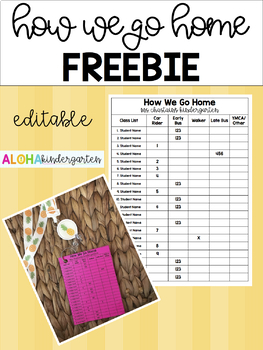 How We Go Home FREEBIE - EDITABLE