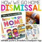 How We Go Home Posters, Bracelets, and Backpack Tags (all editable)
