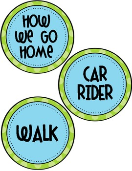 How We Go Home Printable - Transportation Circles