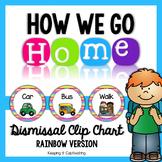 How We Go Home {Editable Rainbow Dismissal Clip Chart}