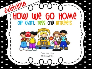 How We Go Home - Transportation Clip Chart, Tags and Brace
