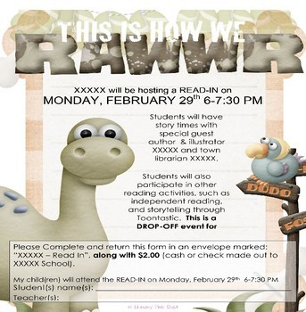 How We Rawwr! Read-In & Read-a-Thon Event