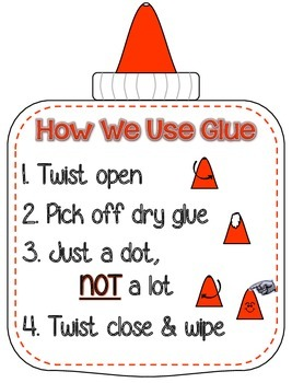How We Use Glue - Mini Poster