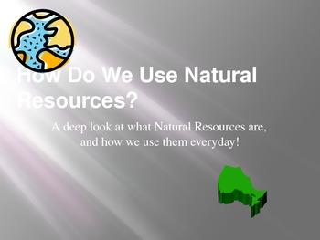 How We Use Natural Resources Grade 3 Social Studies
