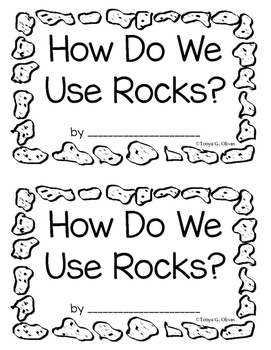 How We Use Rocks--Interactive Book