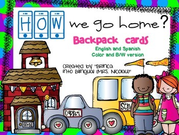 How We go Home Backpack Tags in English & Spanish