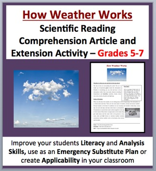 How Weather Works - Scientific Reading Comprehension Article – Grades 5-7