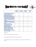 How Well Do I Set My Goals -  Reflection