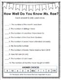 How Well Do You Know My Teacher