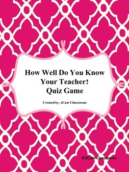 How Well Do You Know Your Teacher