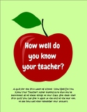How Well Do You Know Your Teacher? BTS Quiz