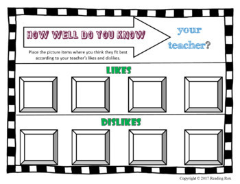 How Well Do You Know Your Teacher? Beginning and End of the Year Game