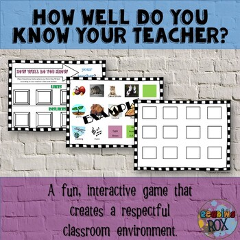 How Well Do You Know Your Teacher? *Back To School Ice Breaker Activity*
