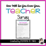 How Well Do You Know Your Teacher Quiz