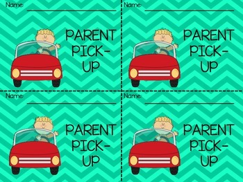 How Will You Get Home Today?- Backpack Tags for Dismissal- Turquoise Chevron