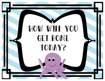 How Will You Get Home Today - Under the Sea Theme