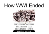 How World War I Ended: Guided Notes Slides
