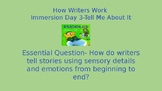 How Writers Work Lesson 3- Writing Fundamentals Compatible Powerpoint Lesson