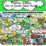 Garden Clip Art Bundle- Chalkstar Graphics