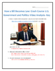 How a Bill Becomes Law: Crash Course U.S. Government and Politics Analysis