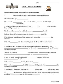 how a bill becomes a law interactive powerpoint printable worksheet - How A Bill Becomes A Law Worksheet