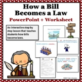 How a Bill Becomes a Law Interactive Powerpoint + Printable Government Worksheet