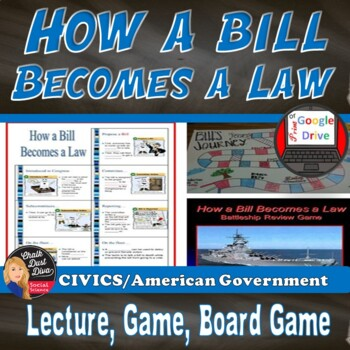 How a bill becomes a law teaching resources teachers pay teachers how a bill becomes a law lecture game board project review game ccuart Image collections
