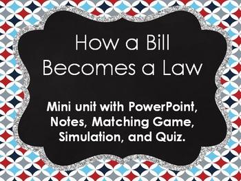 How a Bill Becomes a Law Mini Unit