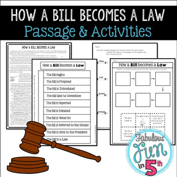 How a Bill Becomes a Law: Nonfiction Passage and Activities
