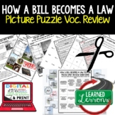 How a Bill Becomes a Law Picture Puzzle Unit Review, Study