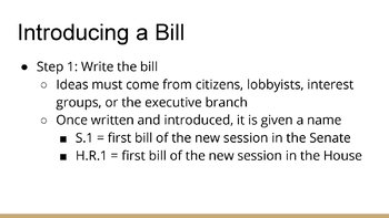 How a Bill Becomes a Law PowerPoint, Guided Notes, and Completed Notes