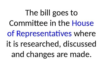 How a Bill Becomes a Law Flashcards/Powerpoint
