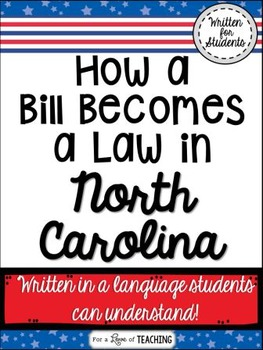 How a Bill Becomes a Law in North Carolina